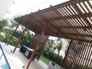 Boathouse - Glass Canopy Trellis